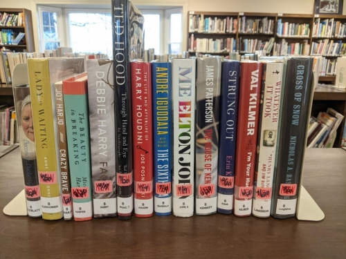 New Adult Biography Shelf Browse 2