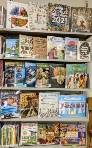 New J Nonfiction shelf Jan 2021