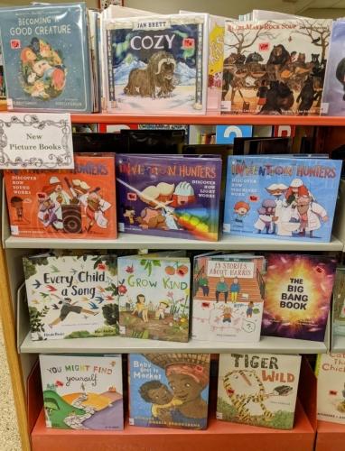 New J Picture Books shelf Jan 2021